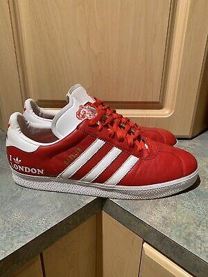 Rare 2006 ADIDAS Red GAZELLE I Love LONDON Sneakers Men's Size 11.5   eBay