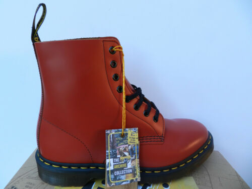 Dr 41 Martens Pascal Red Shoes Stivaletti 1460 New Vintage PrrwqZt