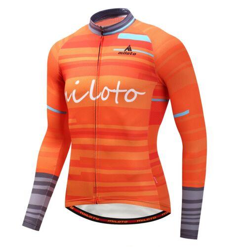 Reflective Cycling Jersey Men/'s Long Sleeve Bike Bicycle Cycle Jersey Shirts Top