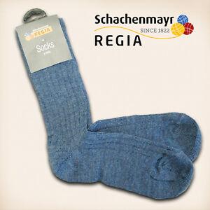 1-Paar-Regia-Gr-36-37-034-Fertigsocken-034-Jeans-Schachenmayr-Sockenwolle-Socken