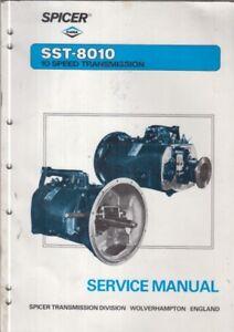 Details about SPICER SST-8010 10-SPEED TRUCK TRANSMISSION ORIGINAL FACTORY  SERVICE MANUAL