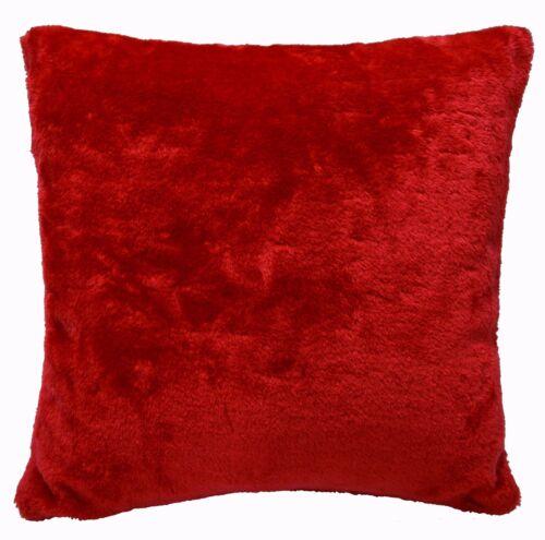 Taille personnalisée * Fg25a Plain Hot Rouge en fourrure synthétique douce Coussin Housse//taie d/'oreiller
