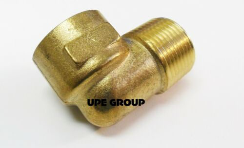 "BRASS STREET Elbow Fitting 90 Degree 3//4/""  NPT FORGED Pipe Thread Tubing"