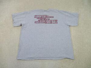 Nike Florida State Seminoles Shirt Adult 2XL XXL Gray Red FSU Football Mens B73*