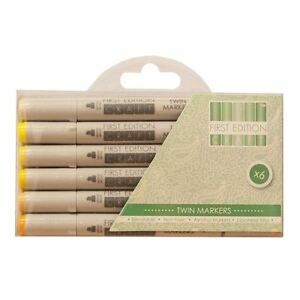First Edition Twin Tip Marker Alcohol Longlife Craft Pens 6pk Set - Yellows SYedfabv-09084748-881104011