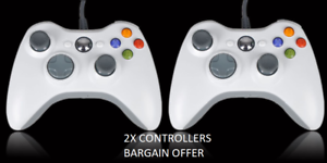 2WHITE-BRAND-NEW-USB-WIRED-CONTROLLER-FOR-MICROSOFT-XBOX-360-PC-WINDOWS-UKSELLER