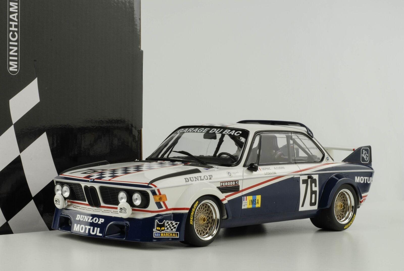 BMW 3.0 CSL 24 H LE MANS MANS MANS 1977 DEPINCE Coulon 1 18 Minichamps 155772576 76c9d9