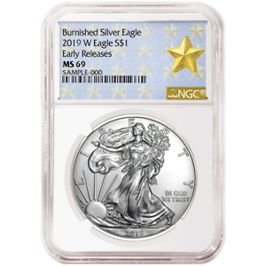 2019-W Burnished $1 American Silver Eagle NGC MS69 ER West Point Star