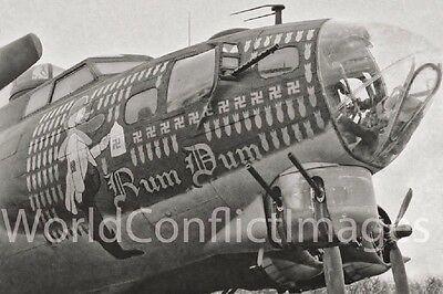 USAAF WW2 B-17 Bomber Sky Chief  8x10 Nose Art Photo 385th BG WWII