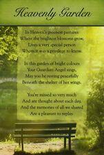 Grave Memorial Gift Graveside  Remembrance card-Heavenly Garden18