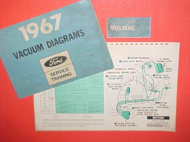 1967 Ford Mustang Convertible Fastback Hardtop Factory Original Vacuum Diagrams