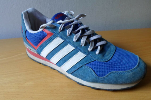 Adidas Runeo 10k Men Size 44 23 US 10.5 Lifestyle Runner Sneakers Shoes Blue