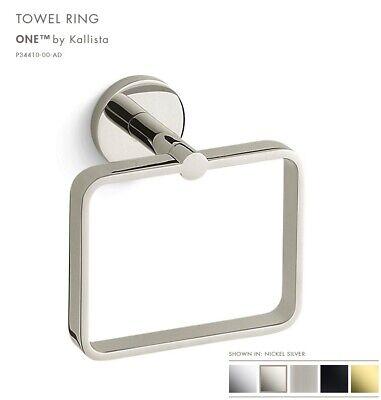 Kallista P34410 00 Ad One Towel Ring 360 Degrees Rotation In Nickel Silver Nib Ebay