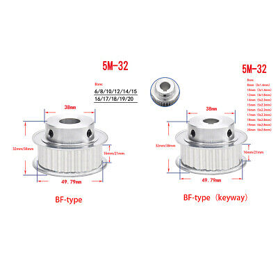 HTD-8M Timing Pulley 30 Teeth Bore 8mm-20mm Synchronous Wheel for 3D Printer CNC