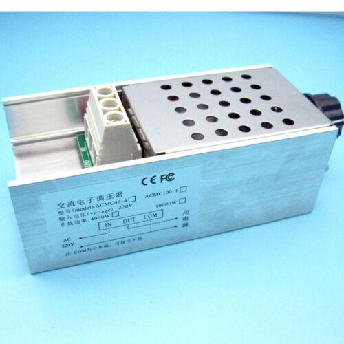 NEW 110v 220V 10000W SCR Voltage Regulator Motor Speed Controller Dimmer Thermo