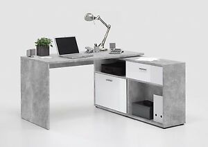 Image Is Loading Home Office Furniture Computer Desk Study Storage Grey