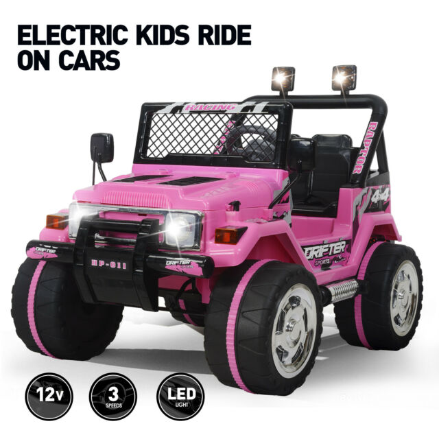 Electric Ride On Cars >> Electric 12v Kids Powered Ride On Car Toy Jeep Battery Wheel Remote Control Pink