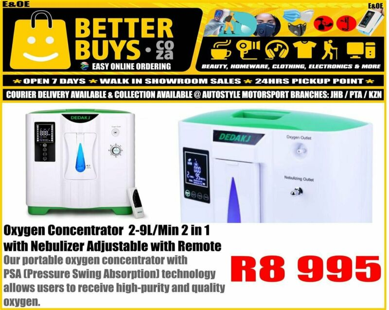 Oxygen Concentrator  2-9L/Min 2 in 1with Nebulizer Adjustable with Remote