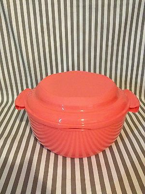 Tupperware Microwave Vegetable/Rice Steamer 3 Piece Coral 10Cups