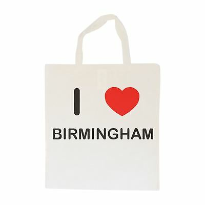 I Love Birmingham - Cotton Bag | Size choice Tote, Shopper or Sling