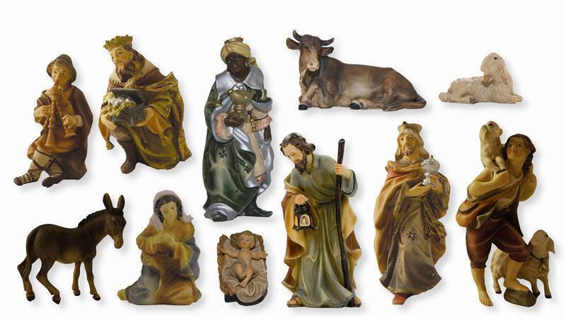 Crèches Mathias crèches Figurines Set 11 pièces en Taille ca13cm