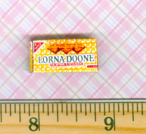 Dollhouse Miniatures  Size Shortbread Cookie Box