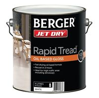 Berger Jet Rapid Tread Paint 4l White, Oil Based, For High Traffic Areas