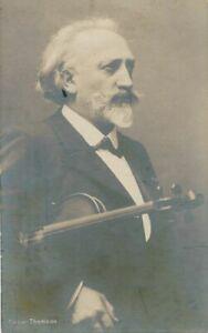 Cesar Thomson Real Photo Postcard rppc - Belgian Violinist - 1909