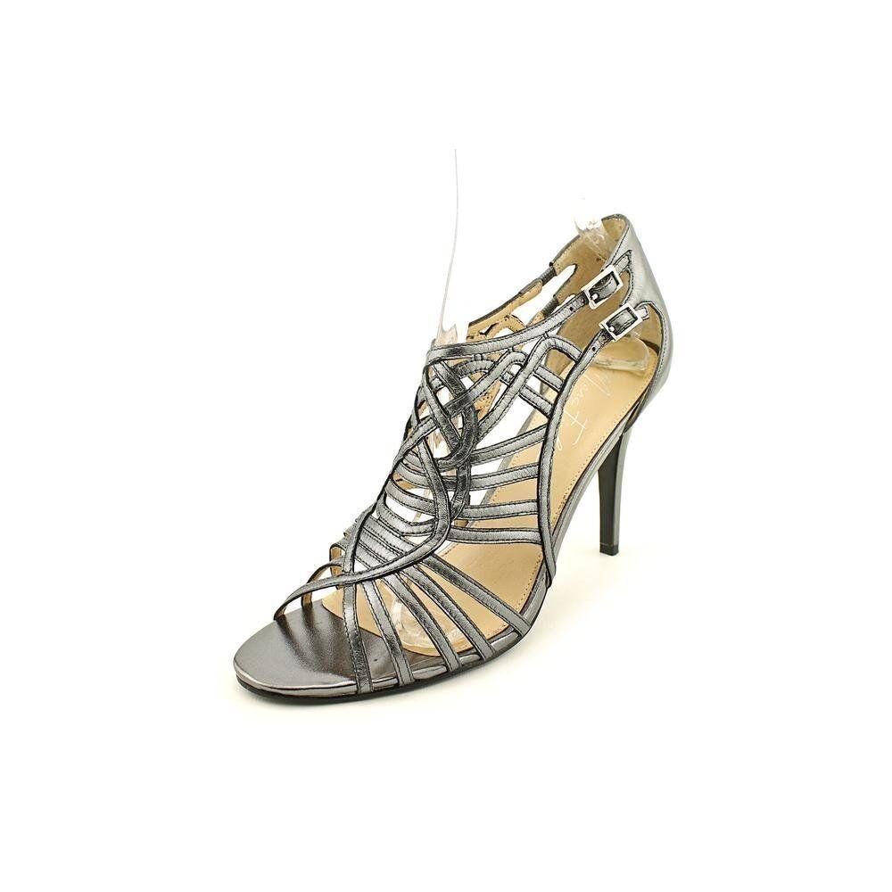 Marc Fisher Stylin Women US 6.5 Silver Sandals
