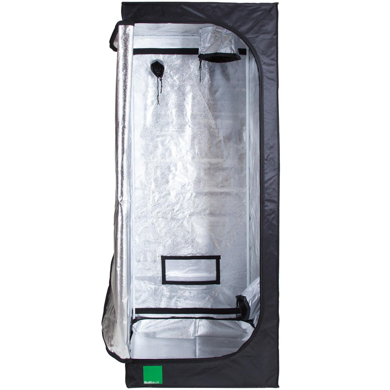 Budbox Lite 80 x 80 x 200cm Hydroponisch Silber Mylar Innen Gewächszimmer Zelt