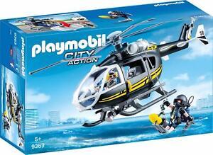 PLAYMOBIL-SEK-Helikopter-9363-NEU-amp-OVP-Playmobil-Hubschrauber-Polizei-SEK