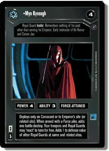 Star Wars CCG: Reflections 2 VRF Foil Card: Myn Kyneugh