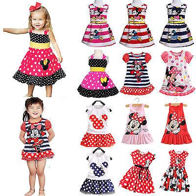 Mädchen Kinder Baby Mickey Minilkleid Sommer Top Party Abendkleid Kommunionkleid