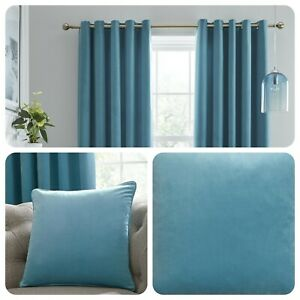 Laurence-Llewelyn-Bowen-MONTROSE-Duck-Egg-Blackout-Eyelet-Curtains-Cushions