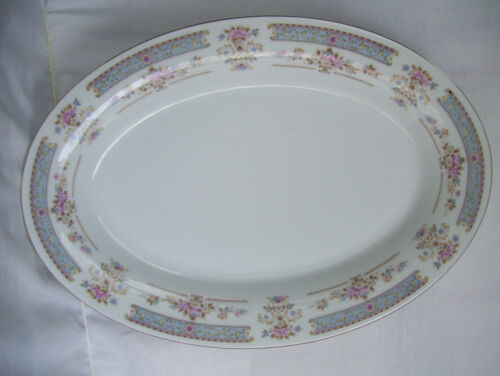 """China Pearl Fine China /""""Catherine/"""" 14 1//4/""""  Platter Floral Mint Condition"""