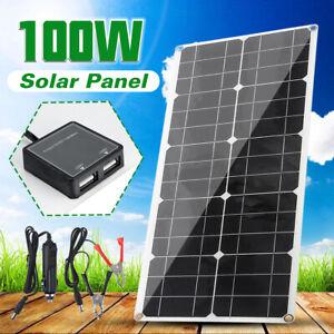 100W-18V-Solarpanel-Solarmodul-Solarzelle-Solar-Polykristallin-Wasserdicht-IP65
