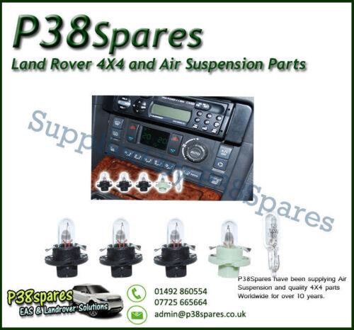 Range Rover P38 Calentador Panel Aire Acondicionado hevac Control Luz Kit de reparación Nuevo