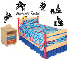 Hores Rodeo Custom Name Sports Vinyl Wall Decal Stiickers Decor Letters  Shapes