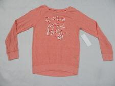 Roxy Girls Warm Your Heart T-Shirts Sz 10 Long Sleeve Medium Tee New Red