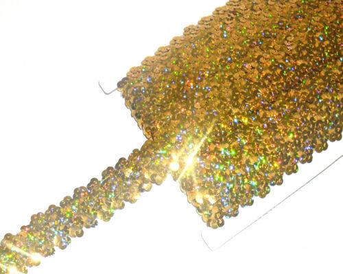 Varios Col Impresionante 3 Fila elástico de estiramiento Adorno de lentejuelas 30 Mm Arte Str1 vendido Btm
