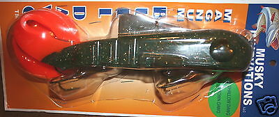 "9/"" Bull Dawg Glitter Oil Orange Musky Innovations Pike Lure Jerkbait Econo Dawg"