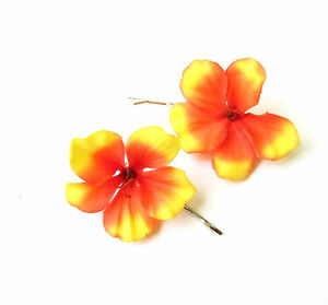 Hibiscus Flower Bobby Hair Pin Jewelry & Watches Hair Care & Styling