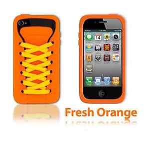 JUEGO-HELLO-NARANJA-ishoe-deportivo-funda-de-silicona-para-iPhone-4