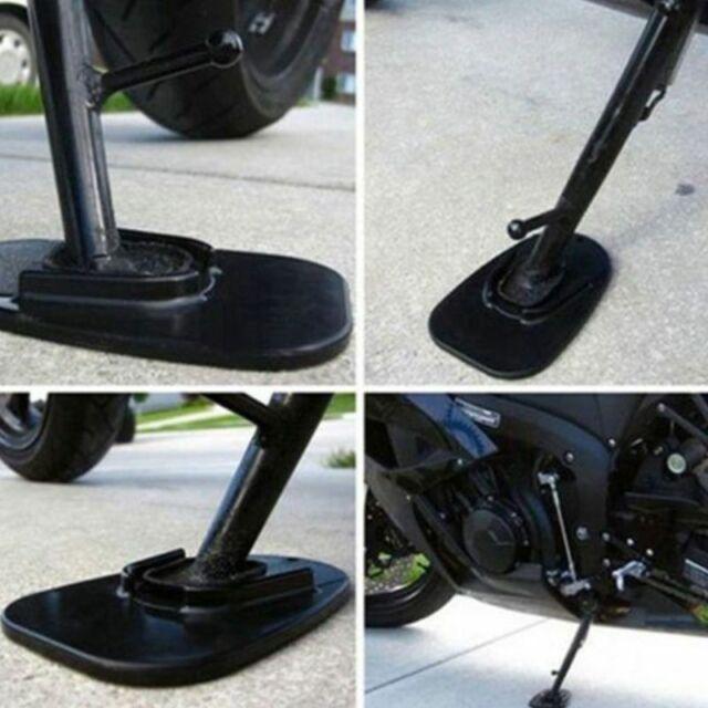 Motorcycle Kickstand Side Stand Pad Base For Kawasaki Black Protect Pad
