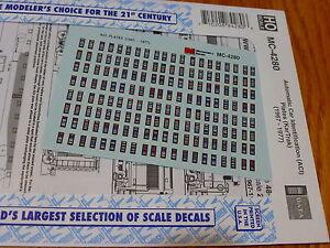 Microscale-Decal-HO-MC-4280-ACI-034-CarTrak-034-Plates-Mini-Cal-Freight-Cars-amp-Som