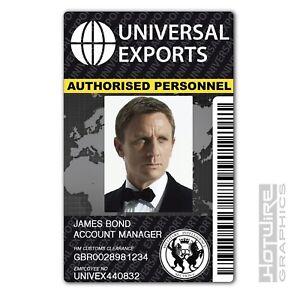 - Exports Card Ebay Id Bond Universal 620444489997 tv amp; 007 Replica James Plastic Prop Film