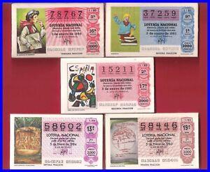 LOTE 5 AÑOS COMPLETOS LOTERIA NACIONAL DEL SABADO DEL 1980 AL 1984,