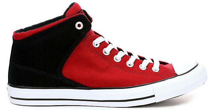 New CONVERSE Chuck Taylor Street Mid Sneaker Mens all sizes red black
