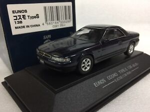 1 43 Sapi Mazda Eunos Cosmo Type S 13b Blue Metallic Diecast Model