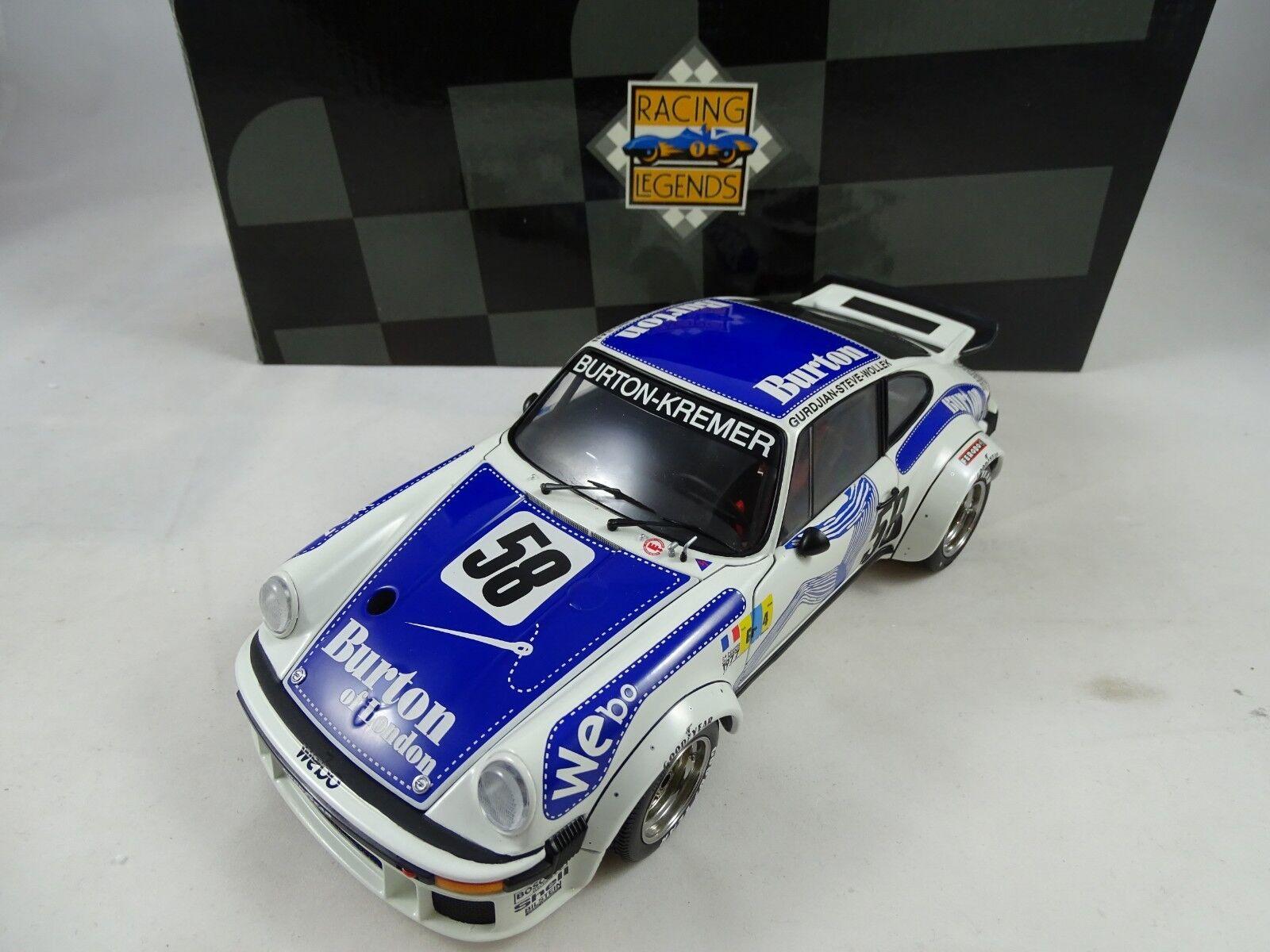 1 18 Exoto  18096 Porsche - 934 Rsr Kremer  58 Burton Wollek Steve Gurdjian Rare